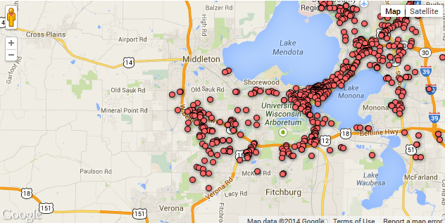 Madison WI Crime Map past 12 months JK Security JK Security